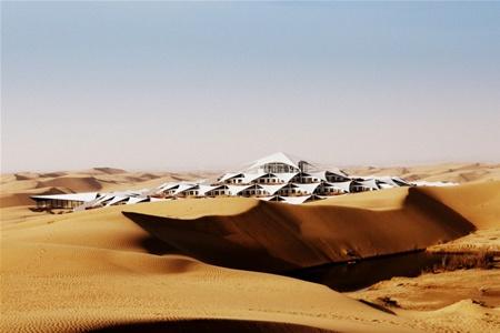В китайской пустыне построят необычный отель