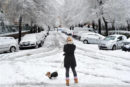 Европу накрыли сильные снегопады, есть пострадавшие туристы