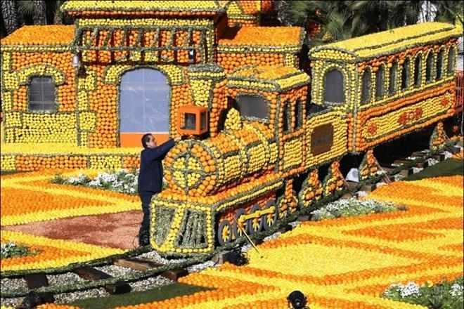 Весенний фестиваль лимонов во Франции