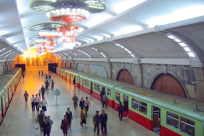 Северная Корея планирует открыть все станции метро в Пхеньяне для иностранных туристов