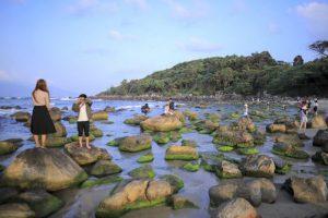 За что туристы полюбили пляж, покрытый мхом в Дананге