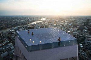 В Лондоне появится единственный в мире бесконечный бассейн на крыше небоскреба