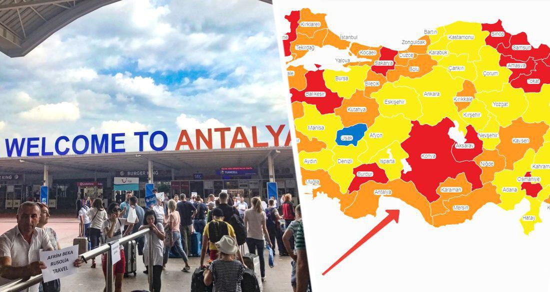 Турки бьют тревогу: Анталия может переместиться из опасной «оранжевой зоны» в «красную» — сверхопасную