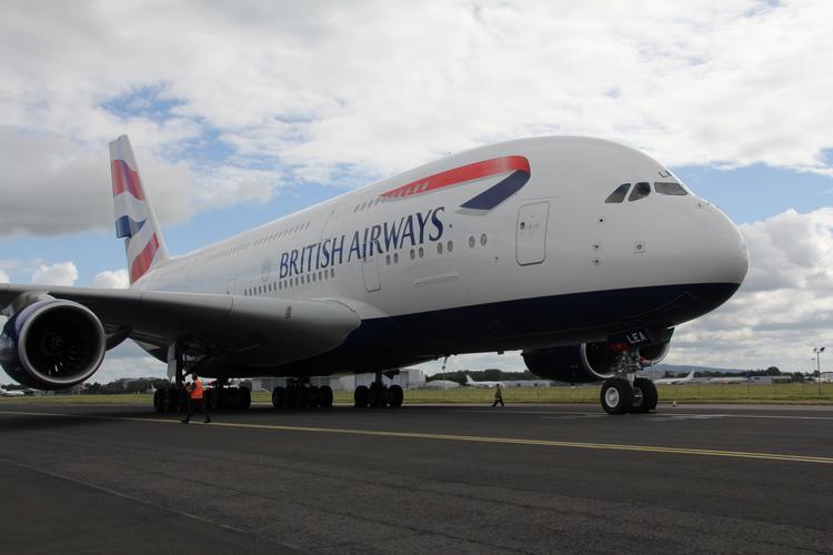 British Airways возвращает в эксплуатацию свои законсервированные AIRBUS A380